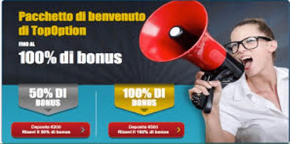 Bonus 50% e pacchetto esclusivo di formazione per i nuovi iscritti TopOption