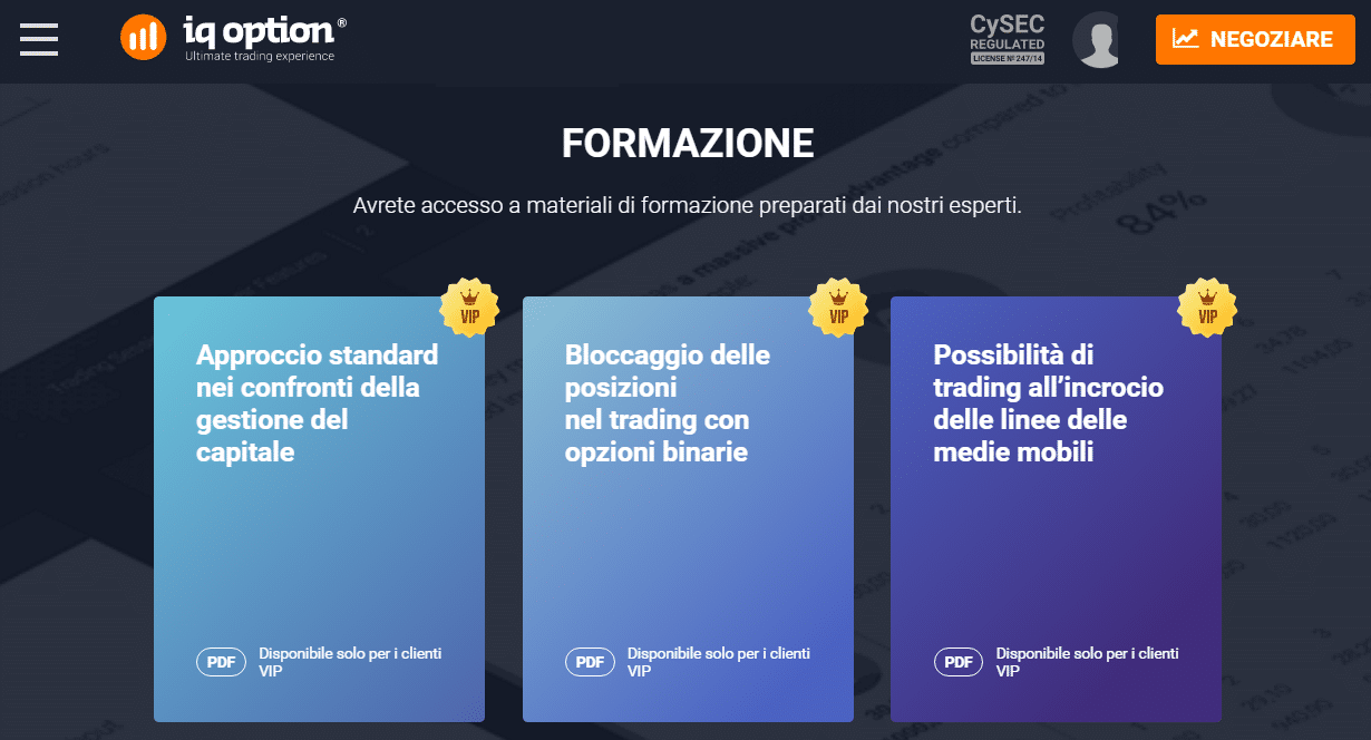 Opzione binarie iq option