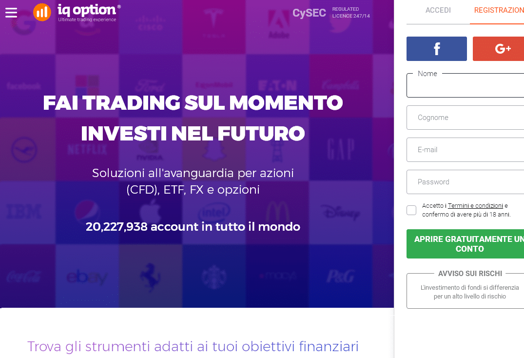 cosa si può fare con la demo iq option