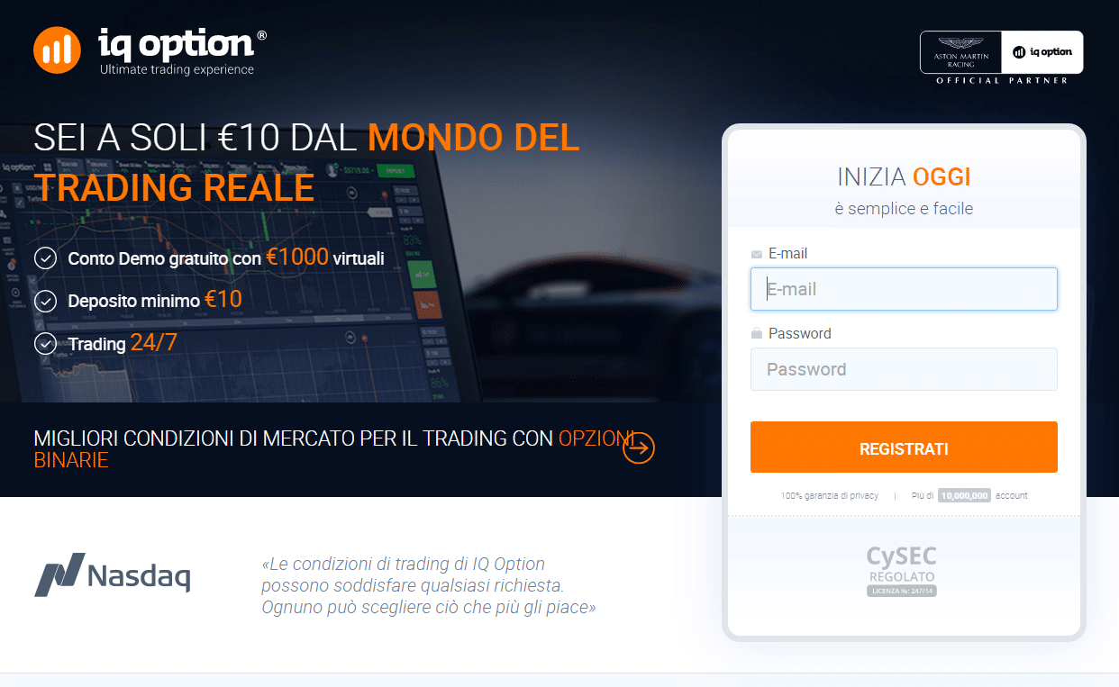 iq option registrazione